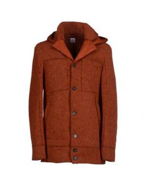 Пальто ADHOC. Цвет: кирпично-красный