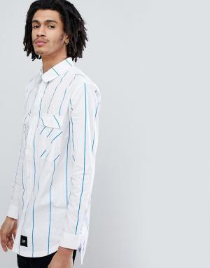 Sixth June Рубашка oversize с синими полосками. Цвет: синий