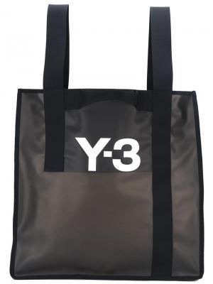 Пляжная сумка с логотипом Y-3. Цвет: чёрный