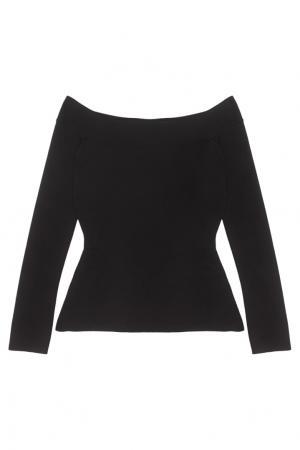 Однотонная блузка Tasso Roland Mouret. Цвет: черный
