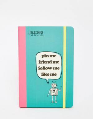 James & Friends Блокнот формата A5. Цвет: мульти