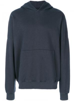 Front pocket hoodie Thom Krom. Цвет: синий