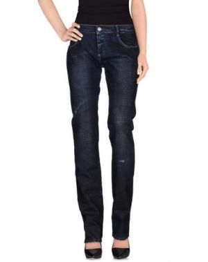 Джинсовые брюки LOVE SEX MONEY. Цвет: синий