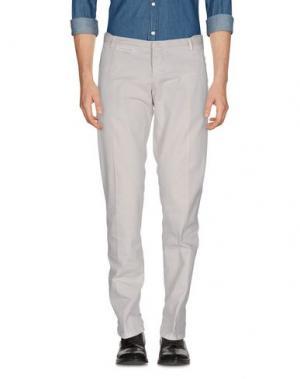 Повседневные брюки COSTUME NATIONAL HOMME. Цвет: светло-серый