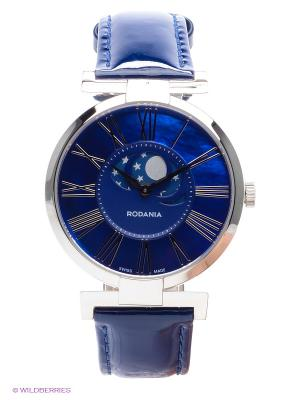 Часы RODANIA. Цвет: серебристый, синий