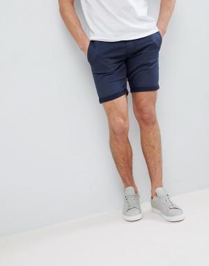 Blend Эластичные джинсовые шорты. Цвет: темно-синий