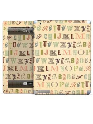 Виниловая наклейка для iPad Calligraphy-Julie Comstock. Gelaskins. Цвет: бежевый
