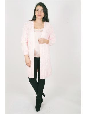 Кардиган FOR YOU. Цвет: розовый