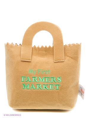 Игрушка мягкая (My First Farmers Market Play Set, 23 см). Gund. Цвет: коричневый, зеленый, красный, оранжевый