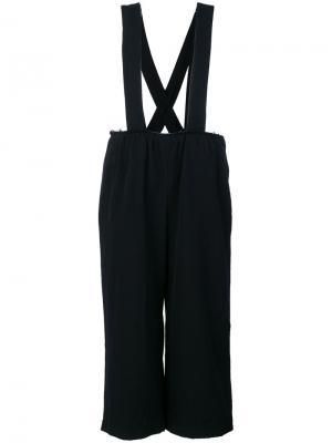 Укороченные брюки на подтяжках Comme Des Garçons. Цвет: синий