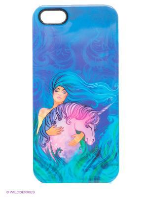 Чехол для iPhone 5/5s Fantasy Unicorn Kawaii Factory. Цвет: синий
