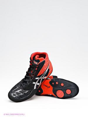 Борцовки SPLIT SECOND 9 ASICS. Цвет: черный, красный, серебристый