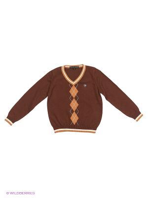 Пуловер Piccolo Angelo. Цвет: темно-коричневый