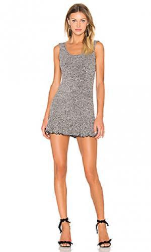 Платье в рубчик theres time NBD. Цвет: серый