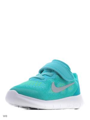 Кроссовки FREE RN 2017 (TDV) Nike. Цвет: бирюзовый, серый