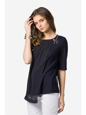 Блузка HELMIDGE. Цвет: темно-синий