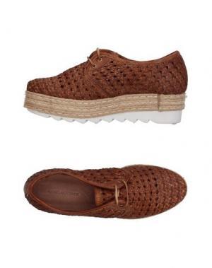 Обувь на шнурках ANGELA GEORGE. Цвет: коричневый