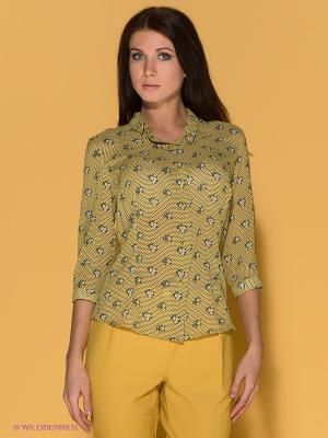 Блузка Say. Цвет: желтый, зеленый