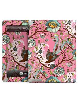 Виниловая наклейка для iPad 2,3,4 Tail Feathers-Tula Pink Gelaskins. Цвет: розовый, голубой