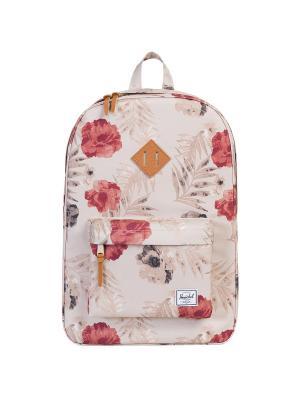 Рюкзак HERITAGE (A/S) Herschel. Цвет: малиновый,бежевый