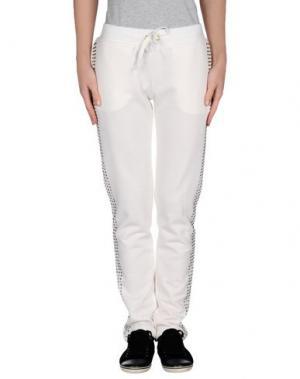 Повседневные брюки BEAYUKMUI. Цвет: белый