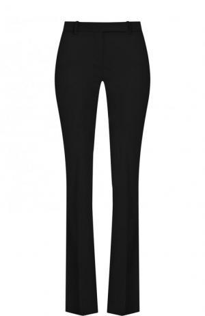 Шерстяные расклешенные брюки со стрелками Alexander McQueen. Цвет: черный