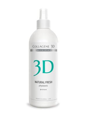 Фитотоник ПРОФ Natural Fresh 500 мл Medical Collagene 3D. Цвет: белый, зеленый