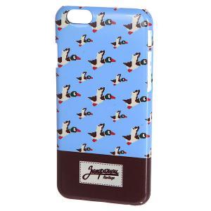Чехол для iPhone 6/6s  86 Бит Blue Запорожец. Цвет: голубой,коричневый