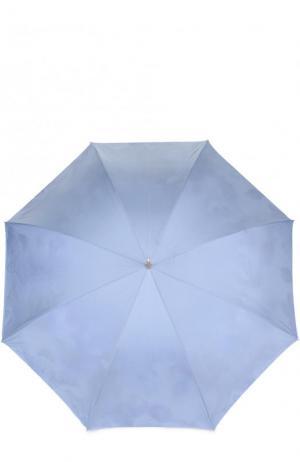 Зонт-трость Pasotti Ombrelli. Цвет: светло-голубой