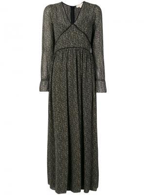 Длинное платье шифт Michael Kors. Цвет: чёрный
