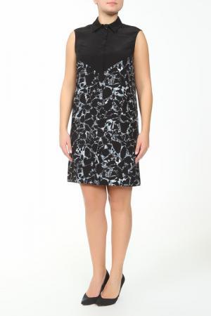 Принтованное платье без рукавов Balenciaga. Цвет: черный