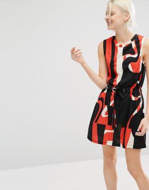 Cheap Monday Платье с принтом. Цвет: мульти