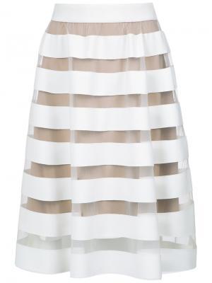 Striped flare skirt Gloria Coelho. Цвет: белый
