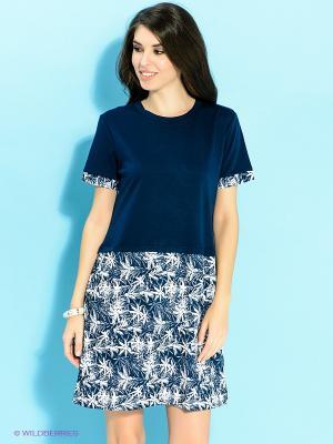 Платье Ada Gatti. Цвет: темно-синий, белый