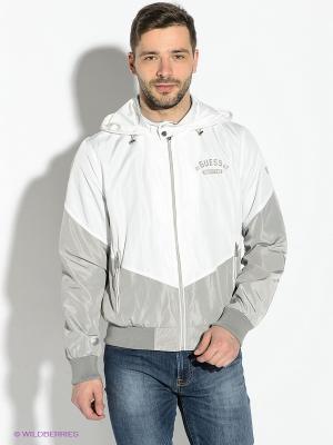 Куртка GUESS. Цвет: серый, белый