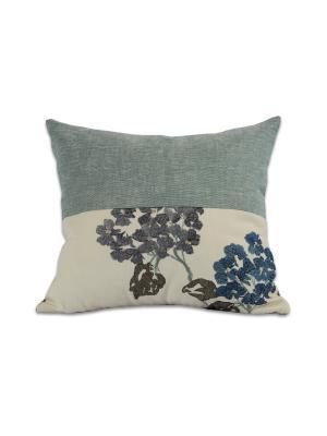 Декоративная подушка Флора РЮШАЛЬ. Цвет: серо-голубой