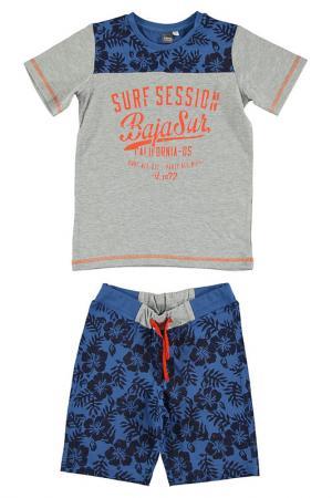 Комплект: футболка, шорты IDO. Цвет: серый