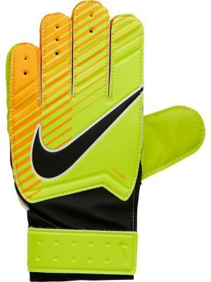 Вратарские перчатки NK GK JR MTCH Nike. Цвет: коричневый