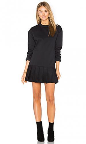 Вязаное платье со складками pride twenty. Цвет: черный