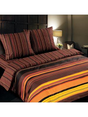 Постельное белье Арт Постель. Цвет: коричневый, оранжевый, желтый