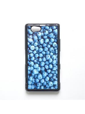 Чехол для Sony Xperia Z1 Compact Черника Boom Case. Цвет: лазурный