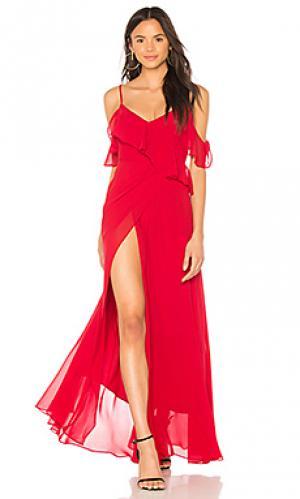 Макси платье because of you Yumi Kim. Цвет: красный