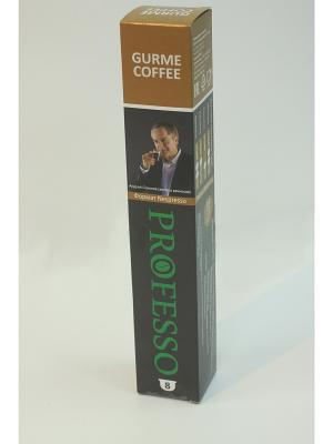 Кофе в капсулах PROFESSO Gurme 8шт PROFFI. Цвет: черный, коричневый