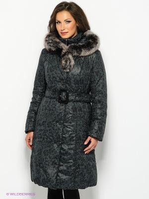 Пальто Electrastyle. Цвет: черный, темно-серый