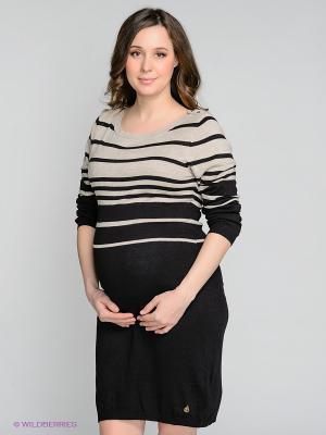 Платье Noppies. Цвет: черный, бежевый