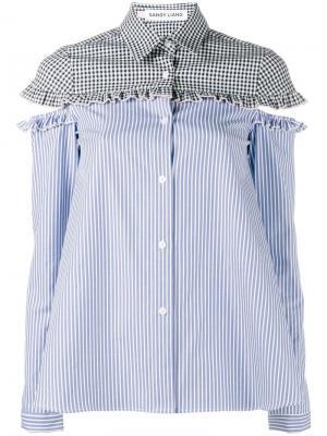 Рубашка Mercury Sandy Liang. Цвет: синий