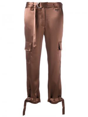 Укороченные брюки Mutara Zoe Jordan. Цвет: коричневый