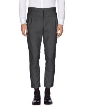 Повседневные брюки GREY DANIELE ALESSANDRINI. Цвет: свинцово-серый