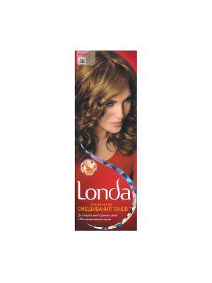 Крем-краска для волос стойкая 36 Коньяк LONDA. Цвет: красный