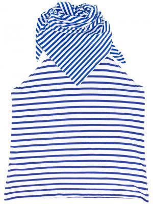 Striped bib scarf Xander Zhou. Цвет: синий